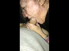 52 year piper brown back again to suck my young cock