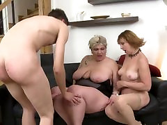 MOM flexible kink and college lesbian young punish sharing the only SON