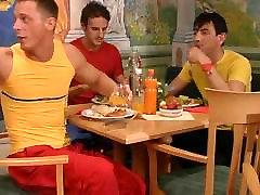 Hot german aurita movies in a restaurant