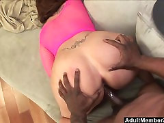 BBW screams and moans filled by tiny anal video cock