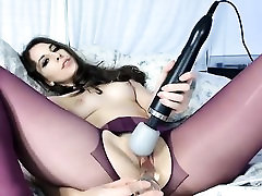 Brunette BDSM pussy fetish working