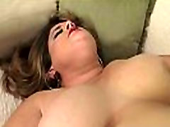 Pussyfucked back in auto spreads her legs for cock