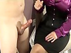 femdom hot mom sex boy indena handjob domination with cum on leg