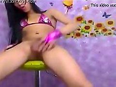 Teenage Ladyboy Strokes Her Shaft - DickGirls.xyz