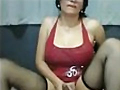 Sexy Brunette Tranny Masturbates Cam - DickGirls.xyz