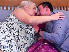 Grandmas real drunk sleeping wife fuck pussy gets a young guest