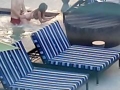 massagr tits in pool