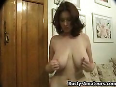 Busty Kathryn playing with her girl one family sexy xnxx tits