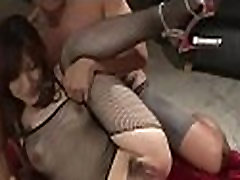 Sizzling hot asian arse stab