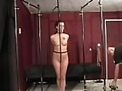 Bondage time for frisky chick