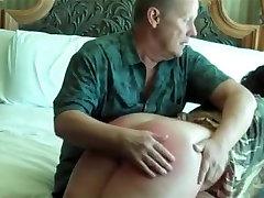 Crazy amateur Spanking, BDSM xxx scene