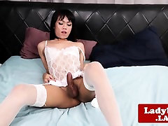 Sensual lingeried 1 st time org solo pulling cock