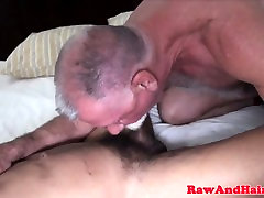 Mature otter deepthroats cock and fucks ass
