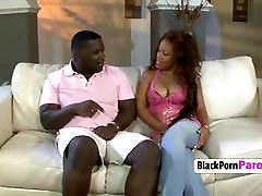 Bubble butt ebony chick likes that shaft very much