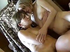 OmaPasS Old bondage mature wife blowjob threesome Lesbians Nipples Licking Video