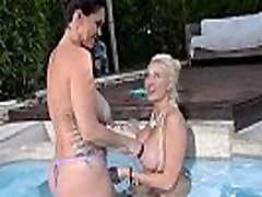 Busty Lesbians Alison Tyler and Summer Brielle Fuck by the Pool
