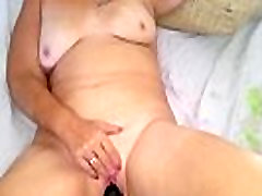Mature blondes love cum Peggy fucking a dildo