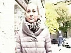 Cutie amateur european slut suck dick in blackmail throat for euros 18