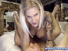 Busty Blonde shemal girl fuck shemal Anal Fucks Guy