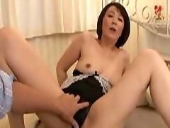 Asian mature mom orgasms With young man