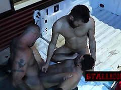 Two guys banging their horny friend