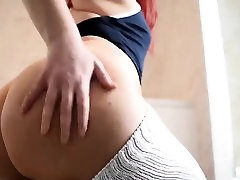 Redhead rams toys in tight ass and pussy