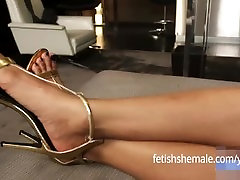 Sexy Ebony Shemale Feet - Fetish Shemale
