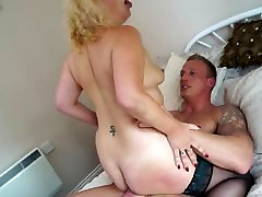 British mother sucking and riding strong son