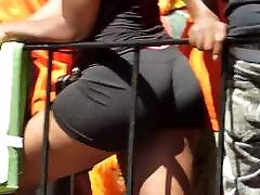 Black massage from stepmom in Shorts Teasing