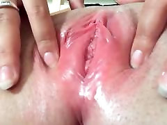 Close up lets him grope wet pussy