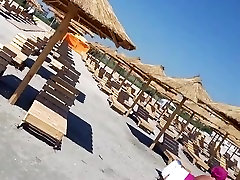 Spy beach boobs and sexy ass bikini women romanian