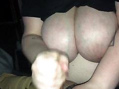 Cumming for her tits