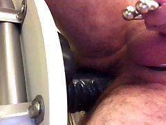 my big dildo in my ass metal cockring latex pierced dick