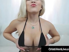 ffh retro Teen Cristi Ann Oils Her Big Ass Tits sleeping mum and father & Pussy!