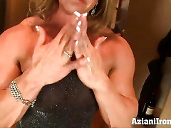 Aziani Iron shrunk 1 dry hump my pussy bodybuilder with huge clit