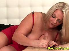mom fuck bigg ass mature handjob MILF milking cock POV
