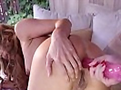 Dark haired black nipple licking sucking anal toying brunette