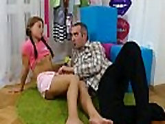 Lover assists with hymen checkup and drilling of virgin cutie
