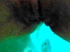 Sex in Pool - HOT small asian school Homemade - Cum Inside