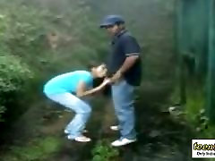 Sucking and fucking outdoors in rain - Indian moviy sex - teen99