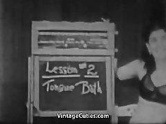 lytis mokytojas moko moteris 1940 vintage