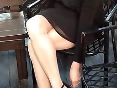 Southern Wife Pantyhose and Heels Legs Tease