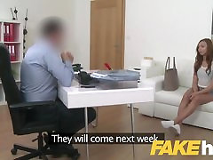Fake Agent Shy European amateur seduced on fitnes gm sex couch