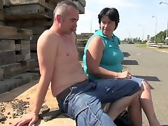 asian milf like big dick granny fucked by student outdoor