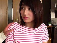 Busty Japanese uses her faith ring sex boobs
