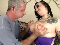 Horny pornstar Angel DeLuca in best old and young, blowjob porn scene