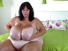 Monster oil tits