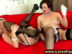 Glam perv doctor seduces MILFs using strapon
