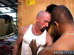 Black dude barebacks guy