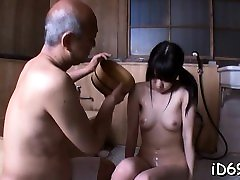 Very sinful cum eat straw from asia get tortured and drilled hard